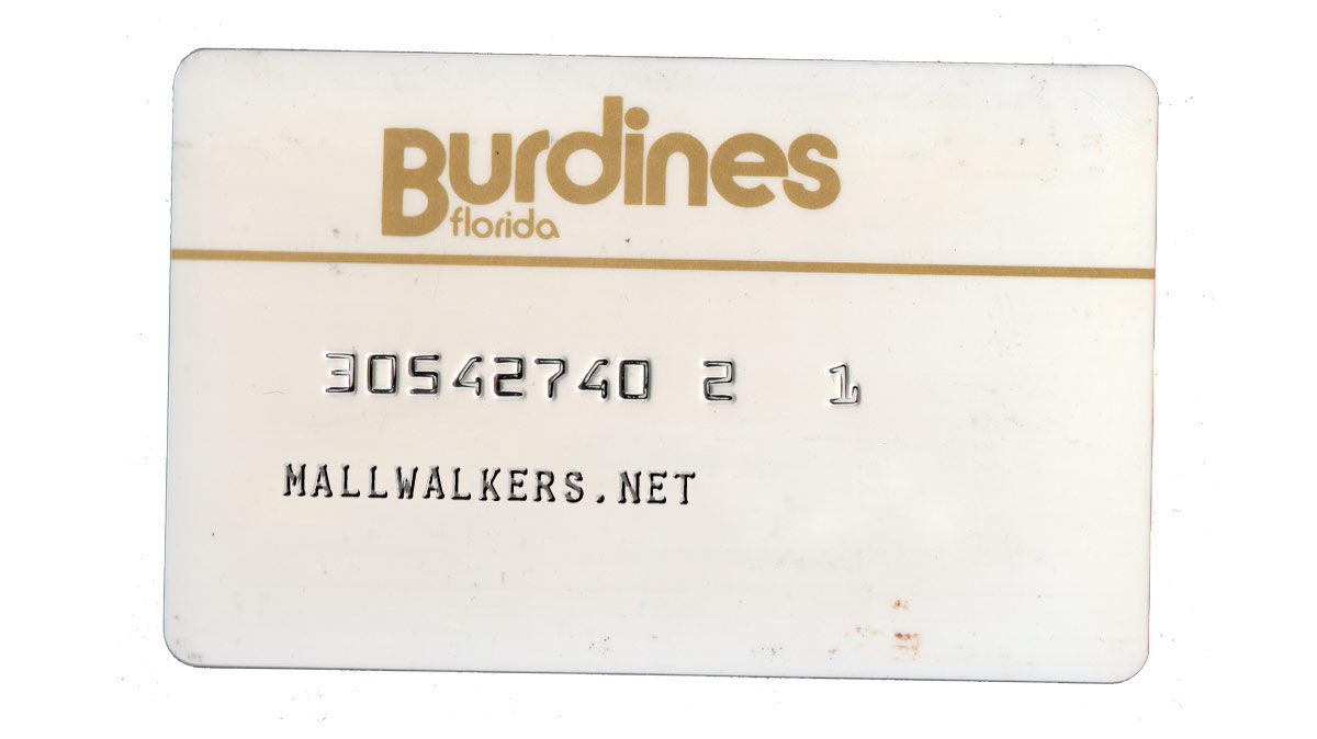 Burdines Credit Card