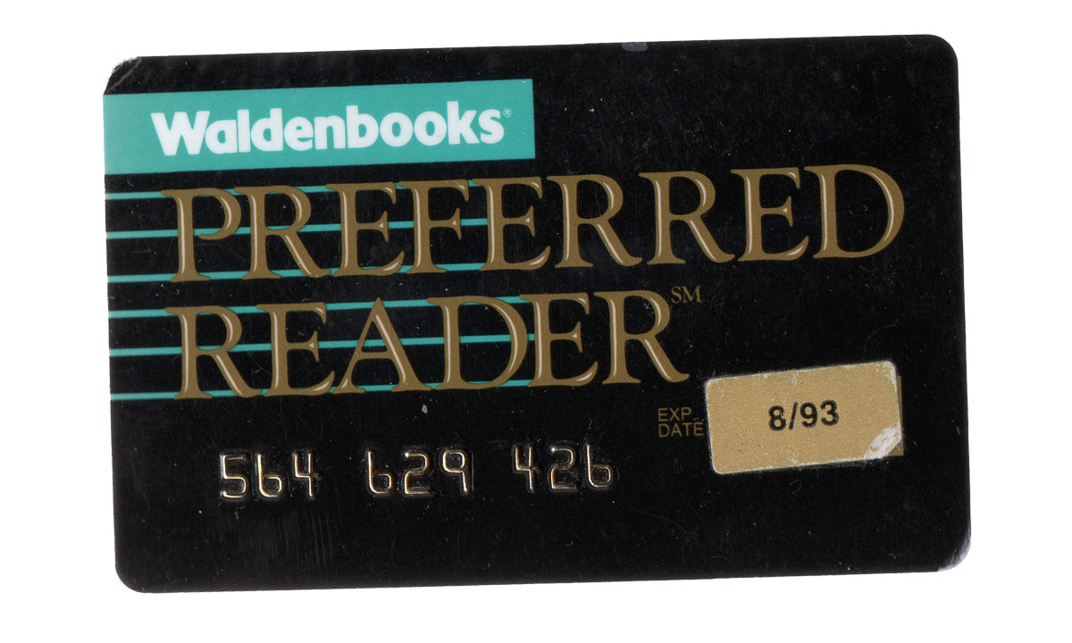 Waldenbooks Preferred Reader Card