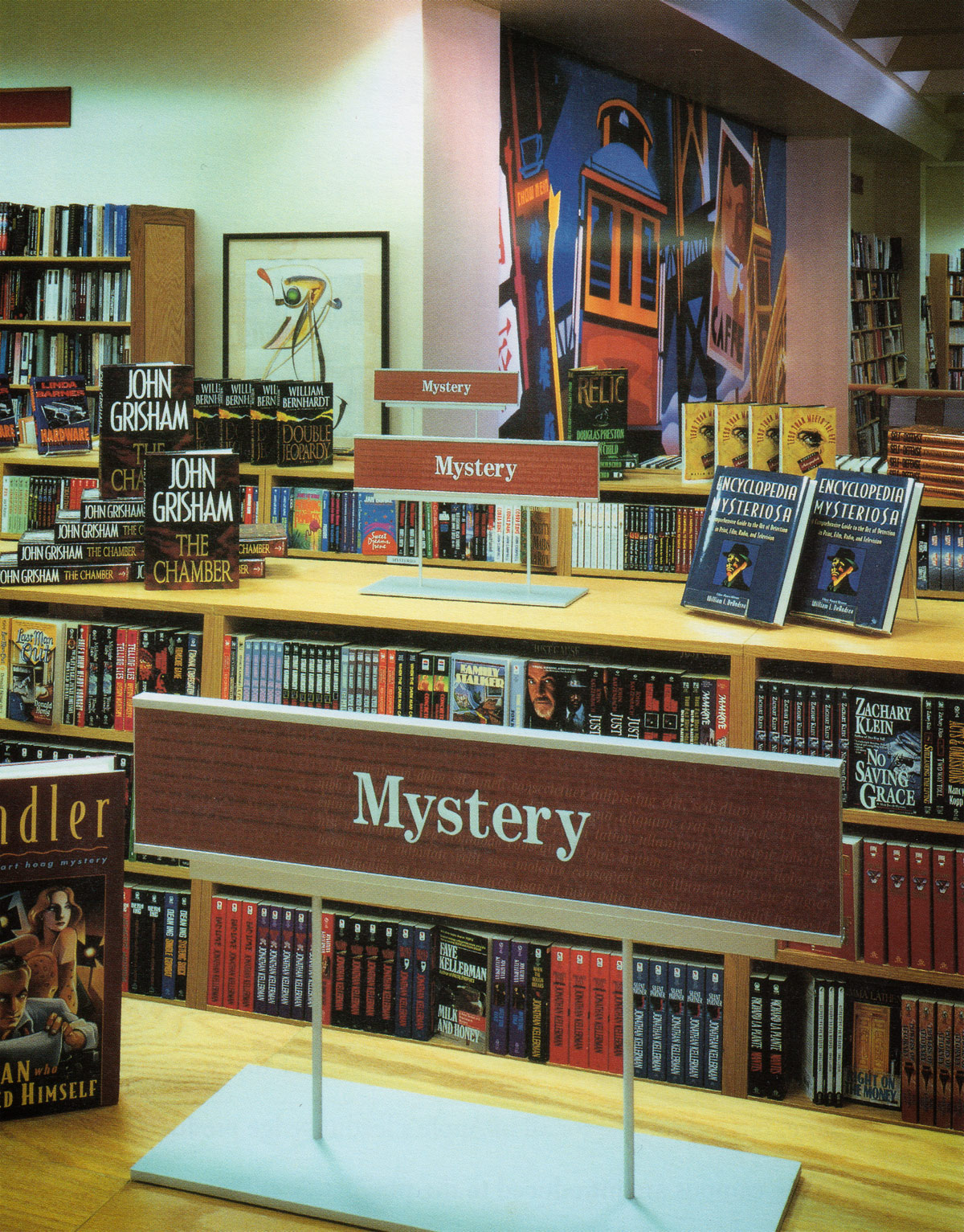 Borders Books and Music Mystery Section