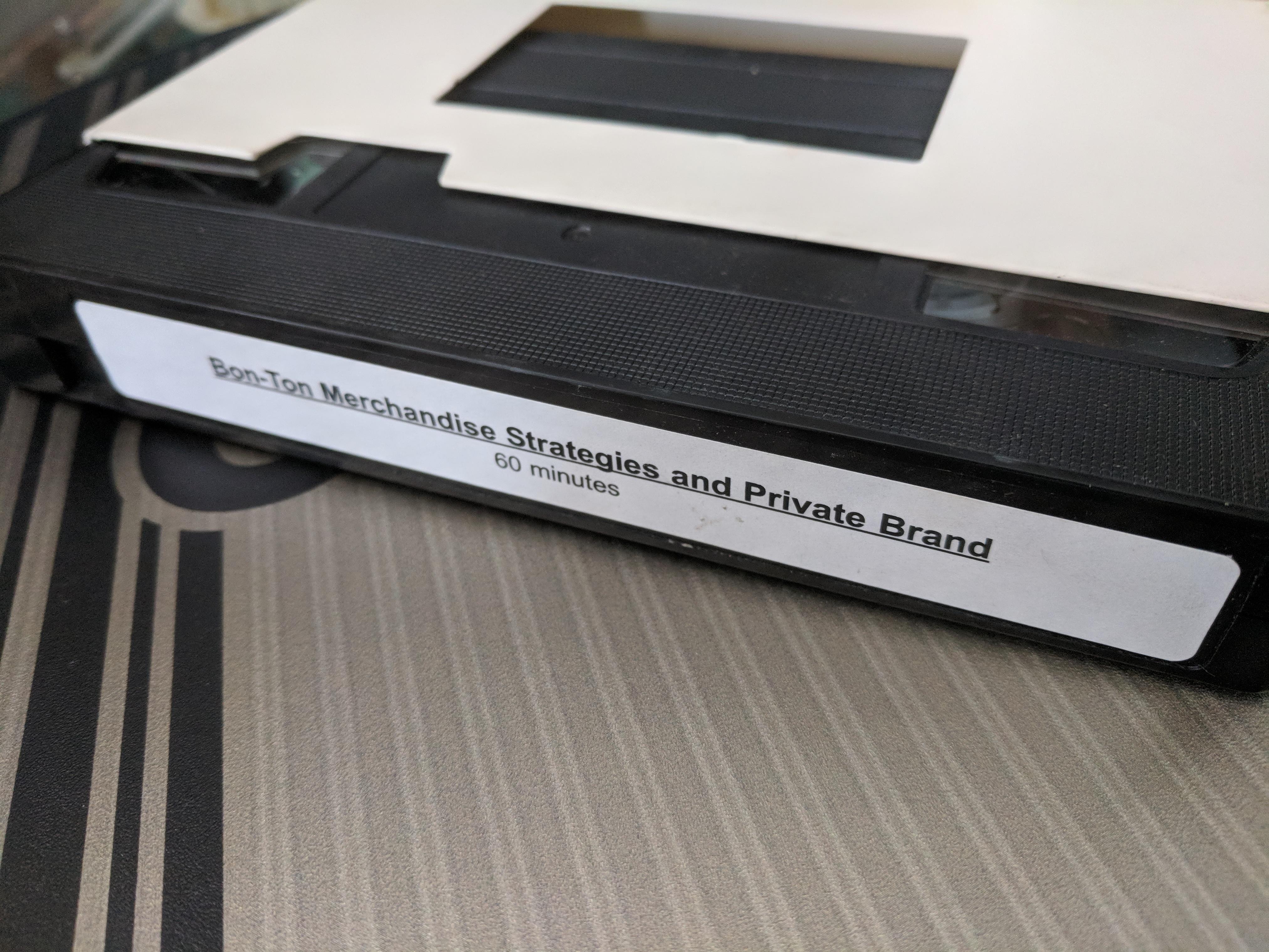 Bon-Ton VHS tape
