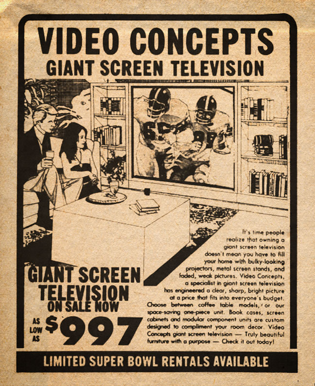 Video Concepts Store Advertisement 1981