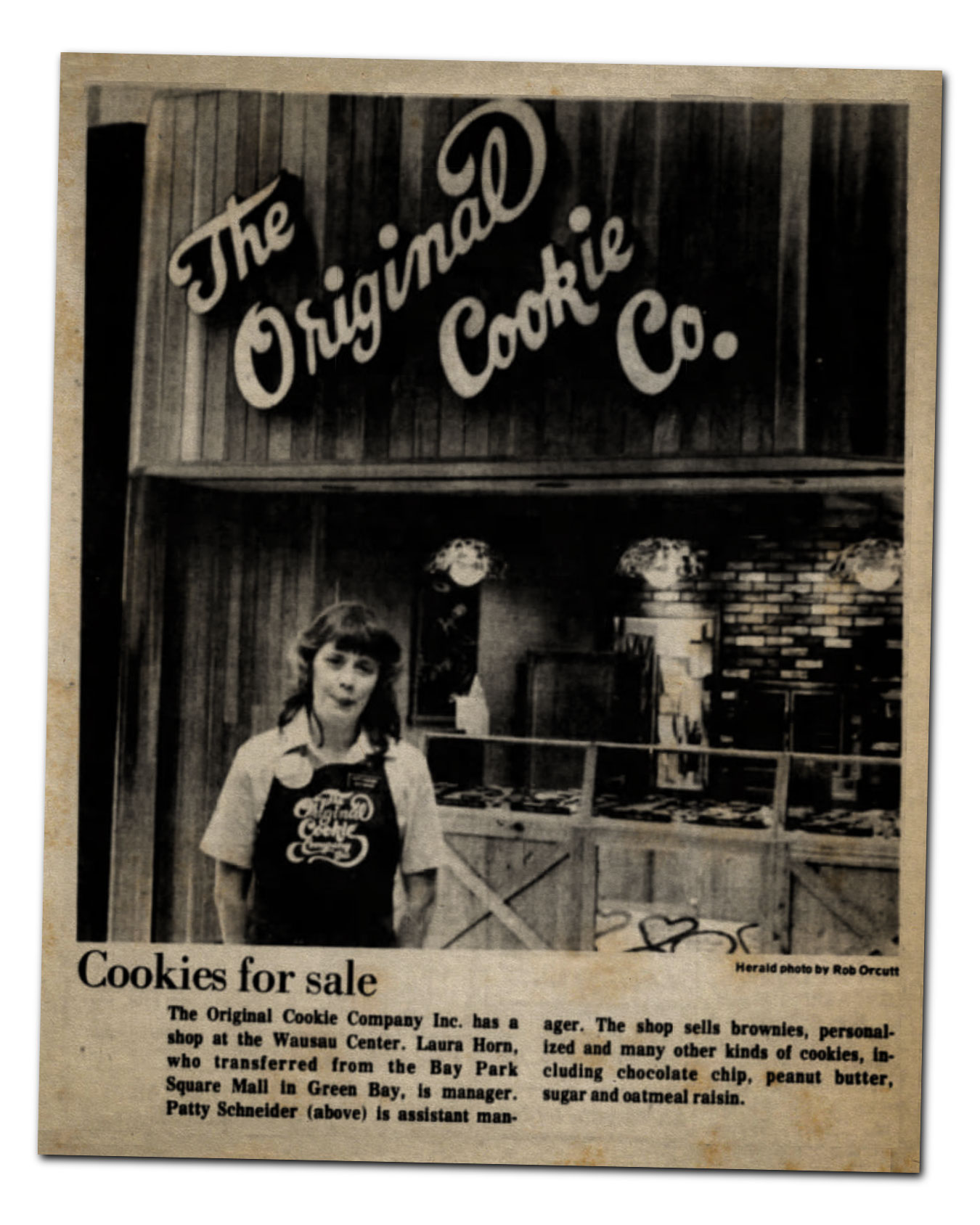 Cookies for sale at The Original Cookie Company