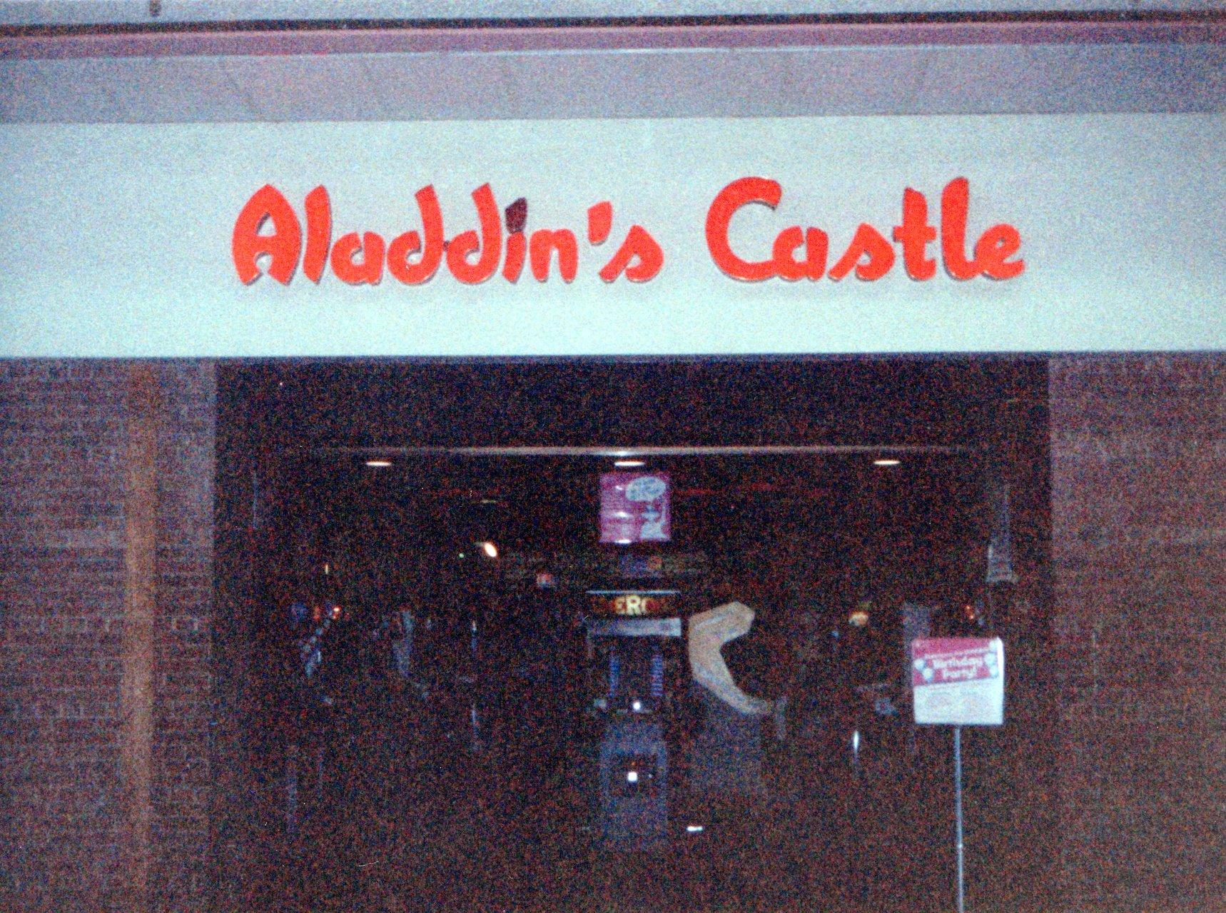 Aladdins Castle storefront