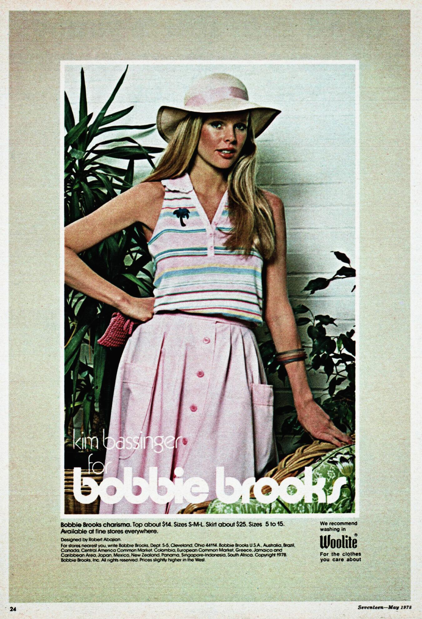 Kim Bassinger for Bobbie Brooks