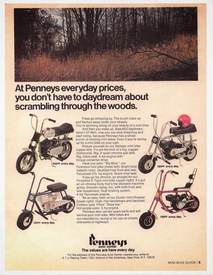 JCPenney Mini Bike