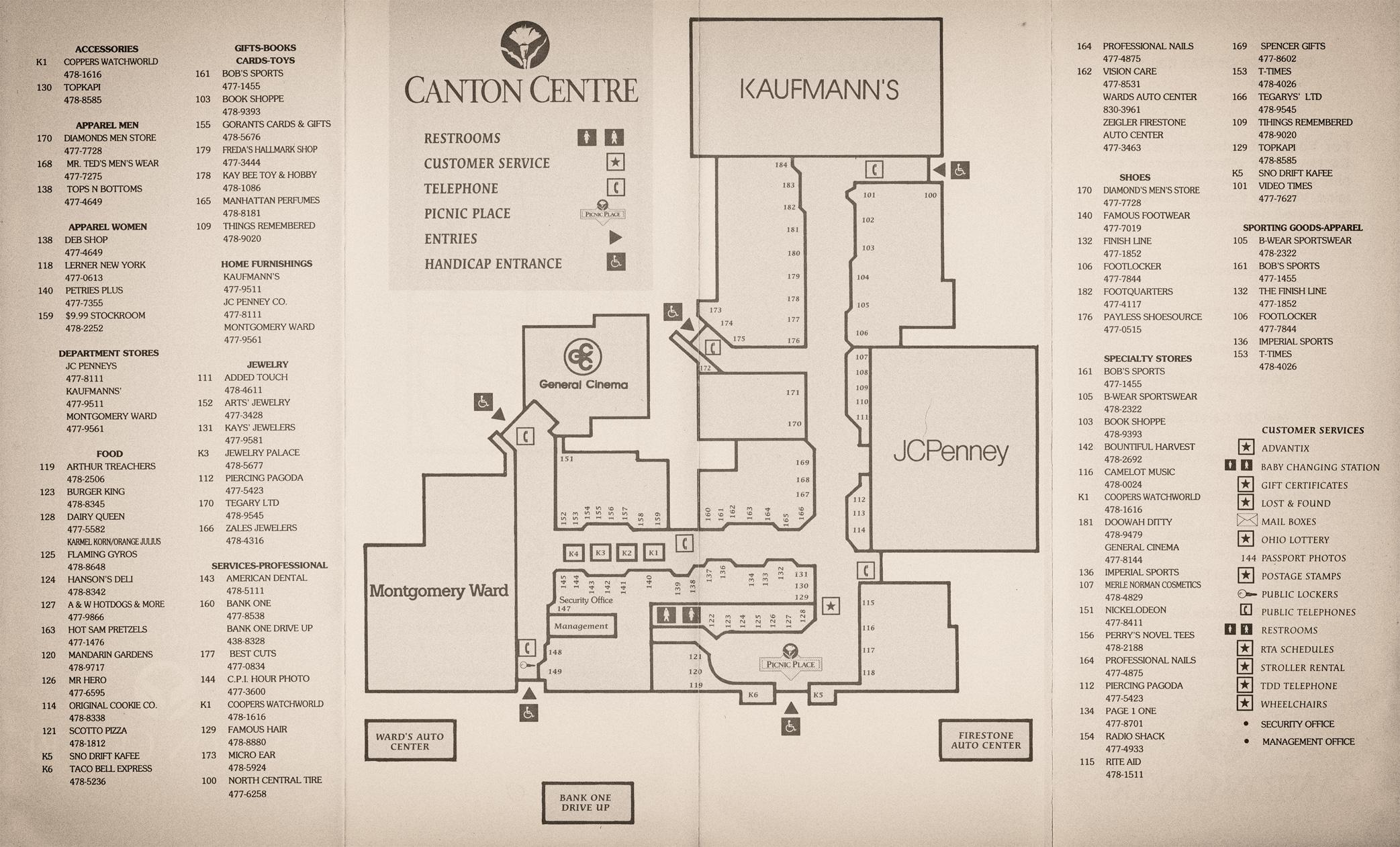 Canton Centre Mall Directory