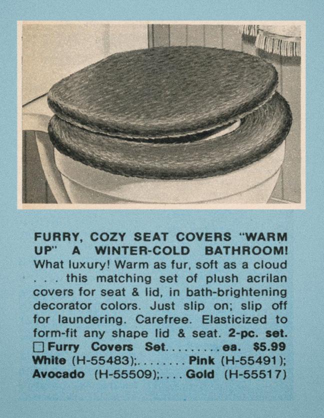 Fuzzy toilet seat cover