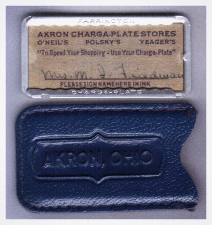 Akron Ohio Charga Plate